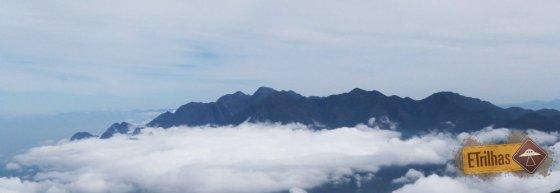Serra Fina vista do topo Prateleiras - Parque Nacional do Itatiaia