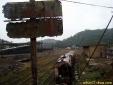 Trem abandonado na estação em Paranapiacaba - SP