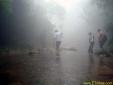 Muita neblina na trilha da Cachoeira da Fumaça em Paranapiacaba - SP