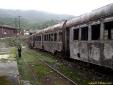 Trem enferrujado na estação em Paranapiacaba - SP