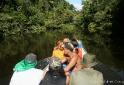 Viagem de barco antes de iniciar a trilha