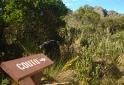 Placa indacando Morro do Couto - Parque Nacional do Itatiaia