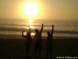 nascer do sol em Trindade - Paraty - RJ