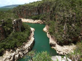 Vista superio dos Canyon em Capitólio - Minas Gerais
